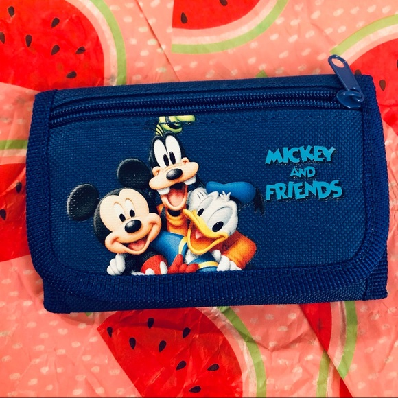🆕 Disney's Mickey and Friends kids trifold wallet